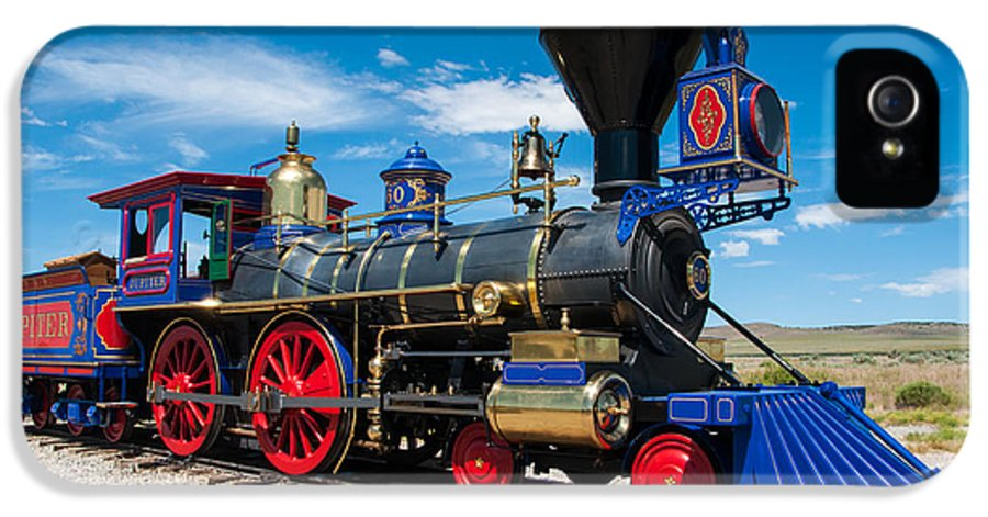 Historic IPhone 5 Case featuring the photograph Historic Jupiter Steam Locomotive - Promontory Point by Gary Whitton