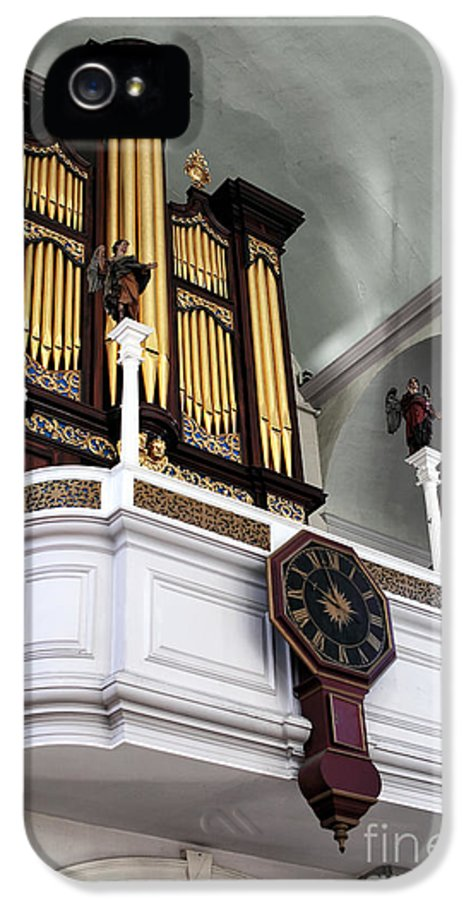 Historic Organ IPhone 5 Case featuring the photograph Historic Organ by John Rizzuto