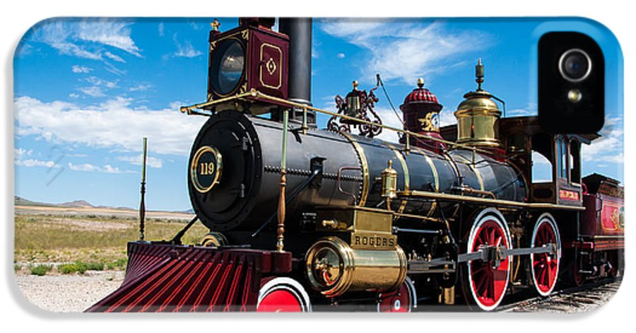Historic IPhone 5 Case featuring the photograph Historic Steam Locomotive - Promontory Point by Gary Whitton