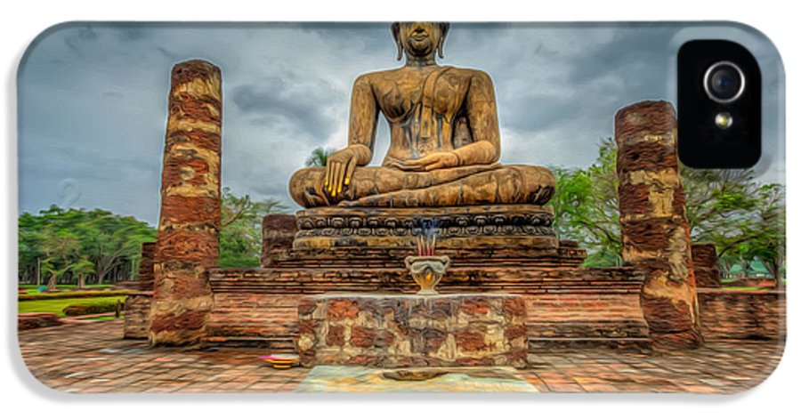 Buddha IPhone 5 Case featuring the photograph Historical Park by Adrian Evans