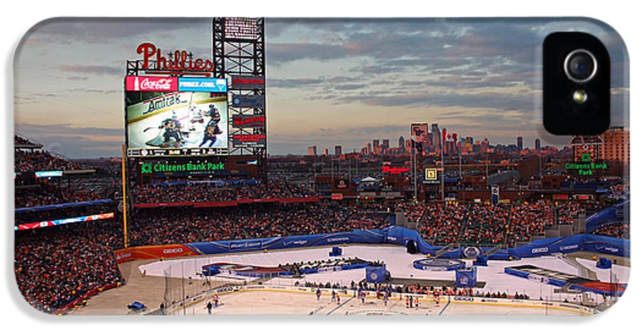 Hockey IPhone 5 Case featuring the photograph Hockey At The Ballpark by David Rucker