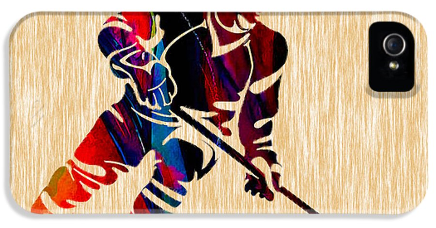 Hockey IPhone 5 / 5s Case featuring the mixed media Hockey Player by Marvin Blaine