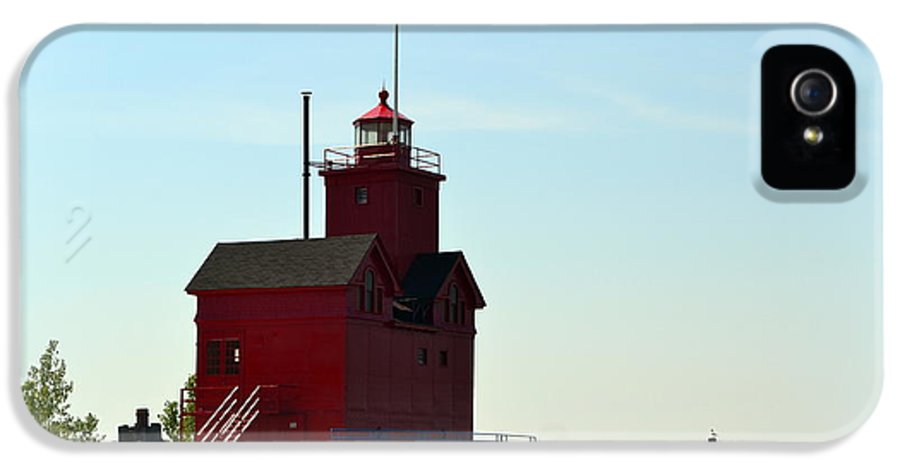 Michigan IPhone 5 Case featuring the photograph Holland Harbor Light Vignette by Michelle Calkins