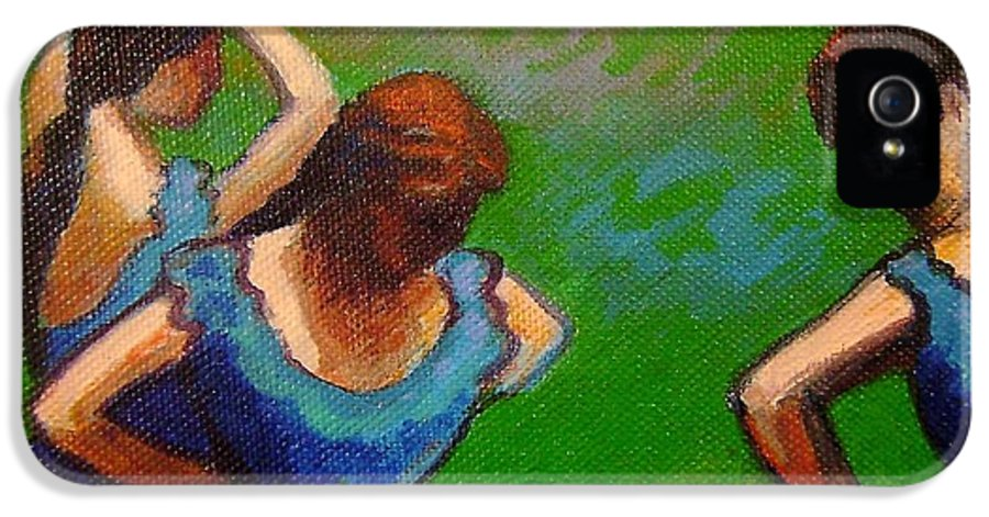 Degas IPhone 5 Case featuring the painting Homage To Degas II by John Nolan