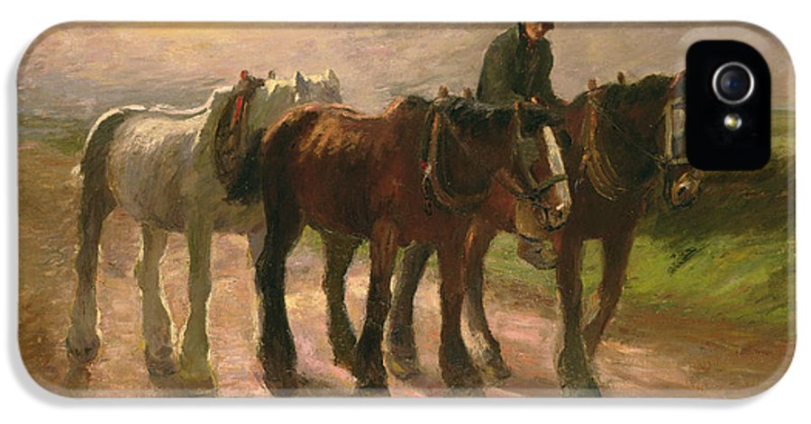 Horse IPhone 5 Case featuring the painting Homeward by Harry Fidler