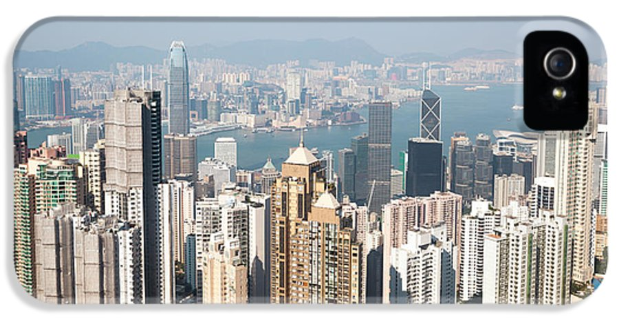 China IPhone 5 Case featuring the photograph Hong Kong Harbor From Victoria Peak In A Sunny Day by Matteo Colombo