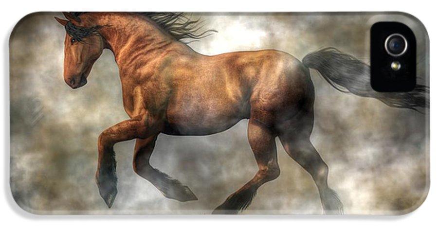 Horse IPhone 5 Case featuring the digital art Horse by Daniel Eskridge