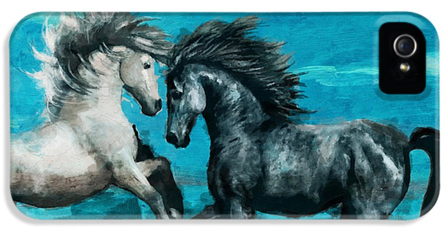 Horse IPhone 5 Case featuring the painting Horse Paintings 011 by Catf