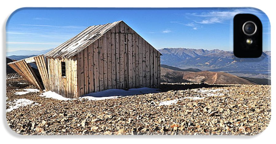 Colorado IPhone 5 Case featuring the photograph Horseshoe Mountain Mining Shack by Aaron Spong