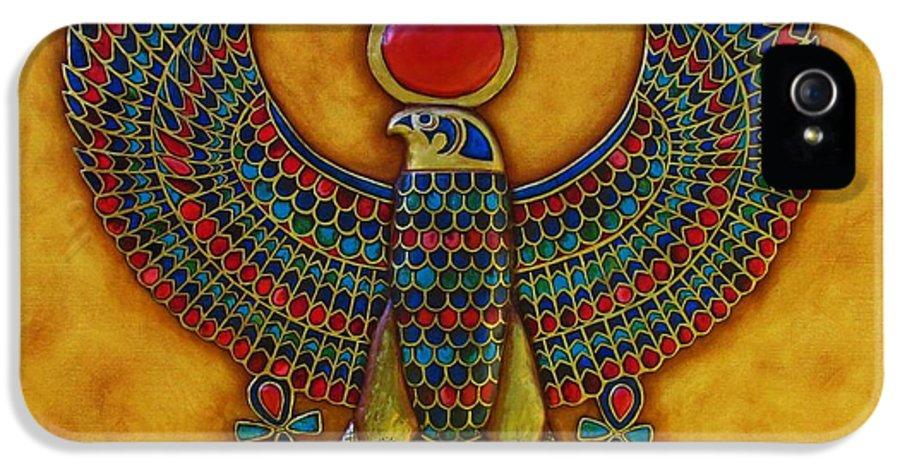 Horus IPhone 5 Case featuring the mixed media Horus by Joseph Sonday
