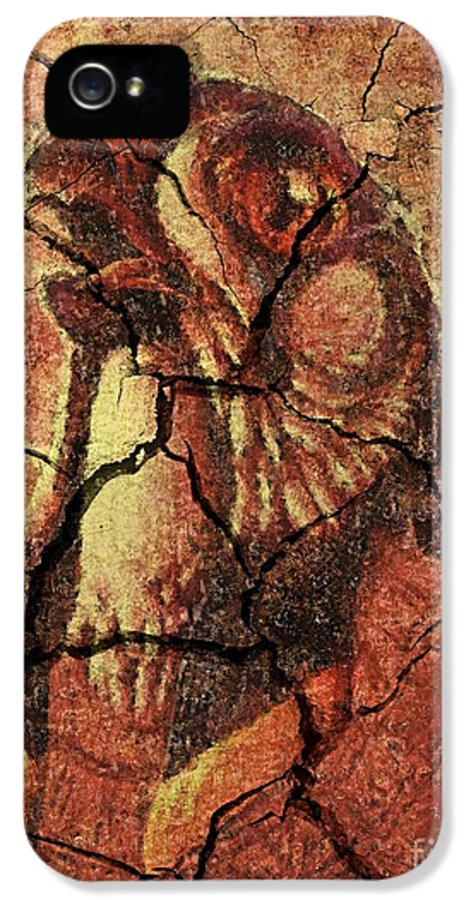 Horus IPhone 5 Case featuring the drawing Horus - Wall Art by Dragica Micki Fortuna
