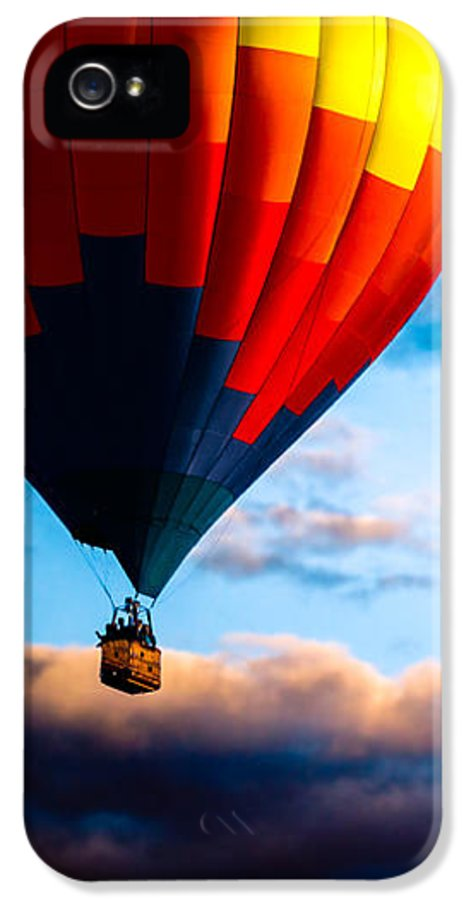 Hot Air Balloon IPhone 5 Case featuring the photograph Hot Air Balloon And Powered Parachute by Bob Orsillo