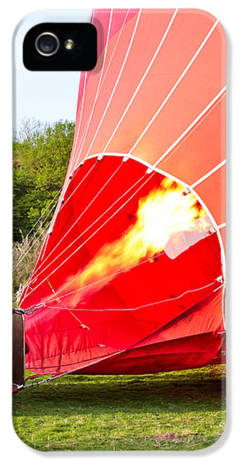 Basket IPhone 5 Case featuring the photograph Hot Air Balloon by Tom Gowanlock