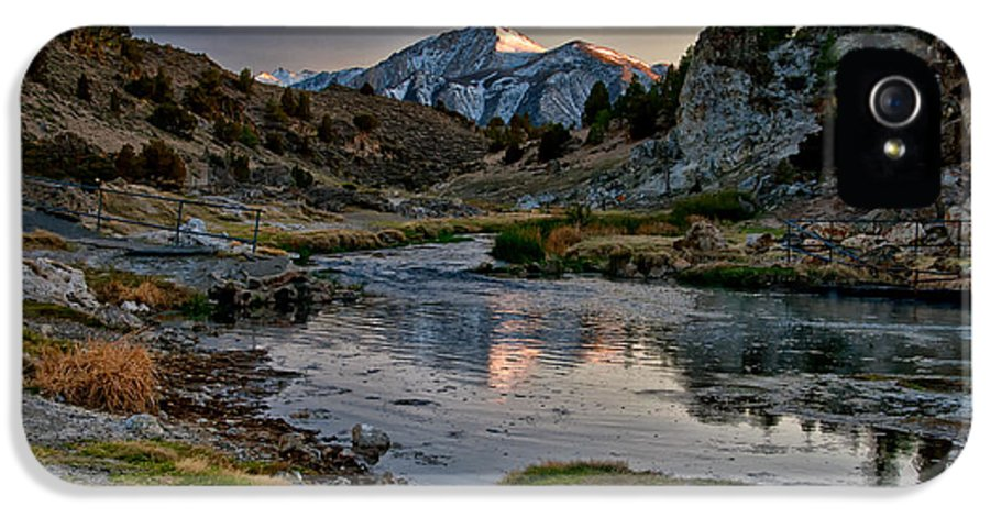 Water IPhone 5 Case featuring the photograph Hot Creek by Cat Connor