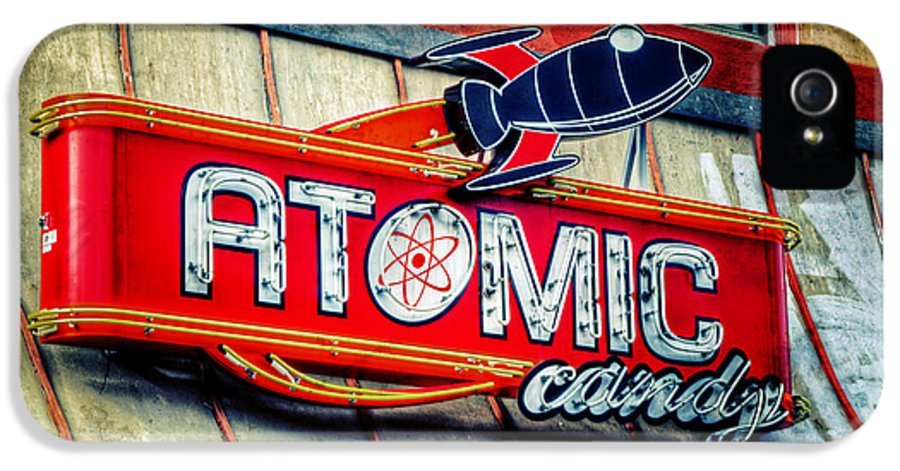 Atomic IPhone 5 Case featuring the photograph Hot Stuff by Joan Carroll