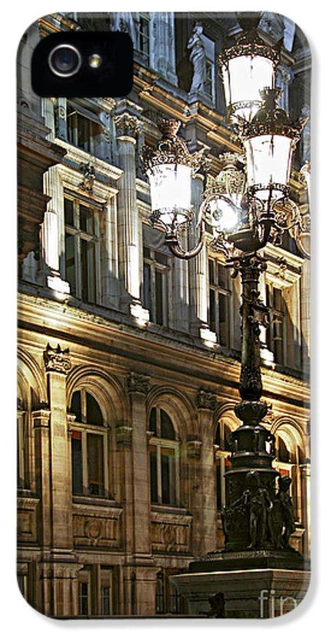 Architecture IPhone 5 Case featuring the photograph Hotel De Ville In Paris by Elena Elisseeva