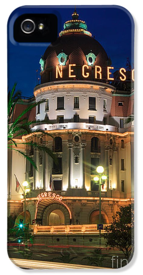 Cote D'azur IPhone 5 Case featuring the photograph Hotel Negresco By Night by Inge Johnsson