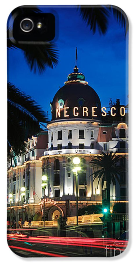Cote D'azur IPhone 5 Case featuring the photograph Hotel Negresco by Inge Johnsson