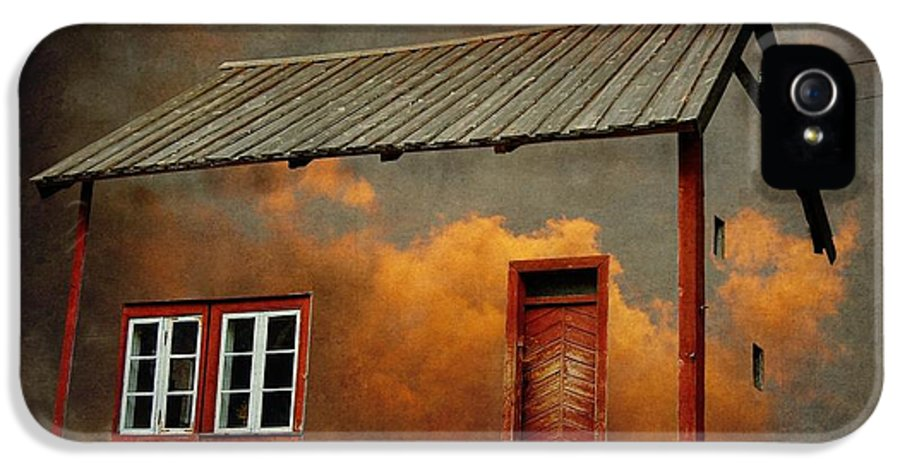 Surrealism IPhone 5 Case featuring the photograph House In The Clouds by Sonya Kanelstrand