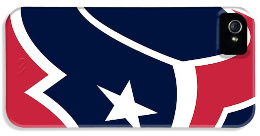 Houston IPhone 5 Case featuring the painting Houston Texans by Tony Rubino