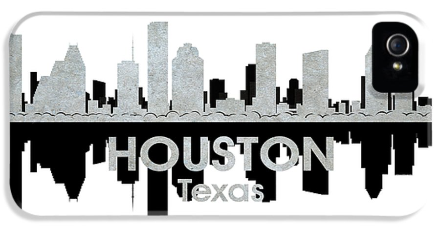 Houston IPhone 5 Case featuring the mixed media Houston Tx 4 by Angelina Vick