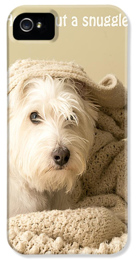 Cute IPhone 5 Case featuring the photograph How About A Snuggle Card by Edward Fielding