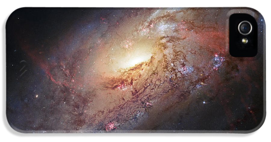3scape Photos IPhone 5 Case featuring the photograph Hubble View Of M 106 by Adam Romanowicz