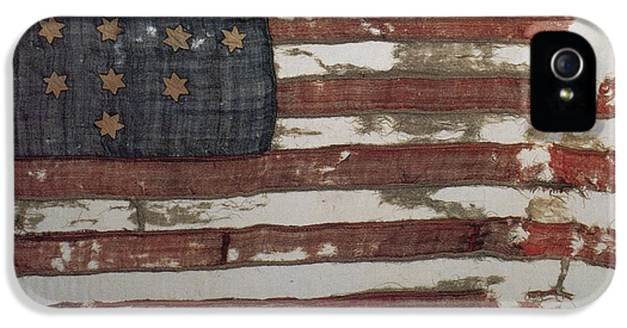 History IPhone 5 Case featuring the photograph Hulbert Flag Early Us Flag 1776 by Photo Researchers