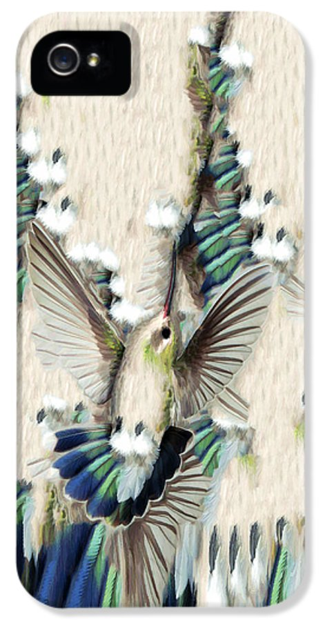 Bird IPhone 5 Case featuring the photograph Hummingbird With Happy Feet - Phone Case by Gregory Scott