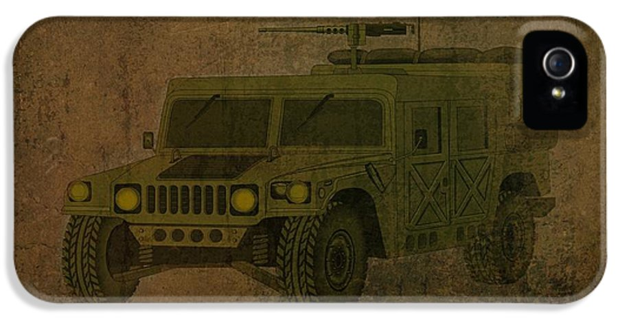 Hummer IPhone 5 Case featuring the drawing Humvee Midnight Desert by Movie Poster Prints