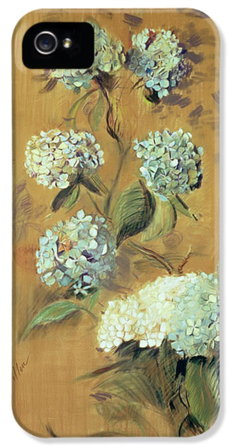 Bloom IPhone 5 Case featuring the painting Hydrangeas by Paul Cesar Helleu