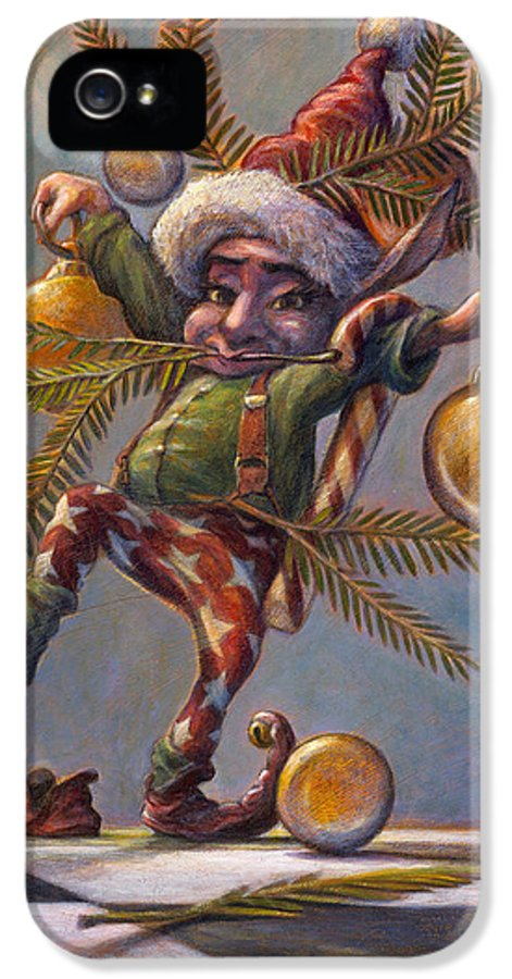 Leonard Filgate IPhone 5 Case featuring the painting I Am A Tree by Leonard Filgate