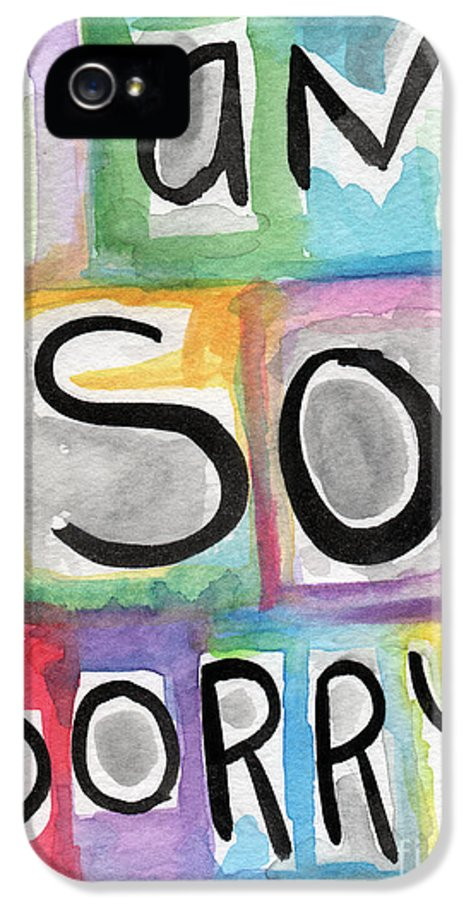 Apology IPhone 5 Case featuring the painting I Am So Sorry by Linda Woods