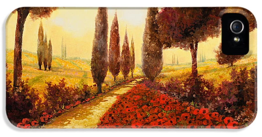 Poppy Fields IPhone 5 Case featuring the painting I Papaveri In Estate by Guido Borelli