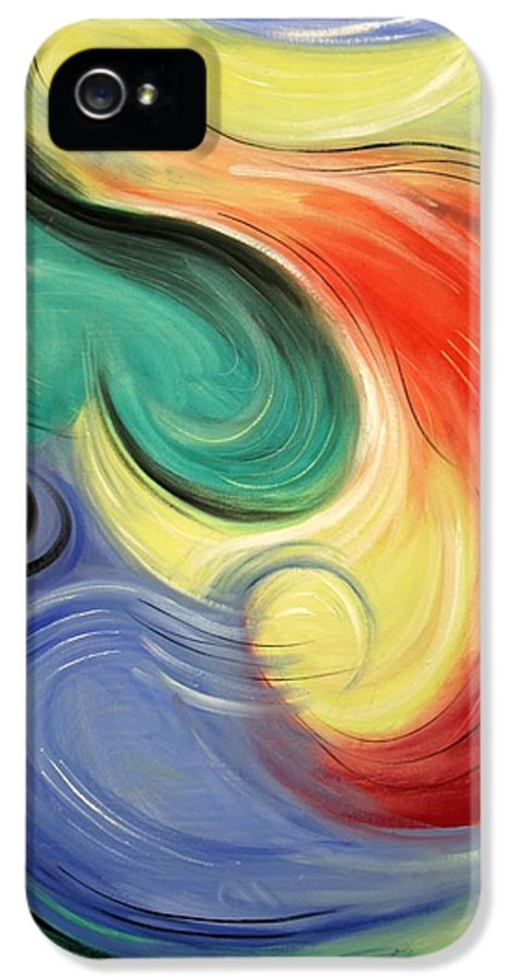 I Will Supply All Your Needs IPhone 5 Case featuring the painting I Will Supply All Your Needs by Anthony Falbo