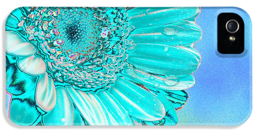 Blue IPhone 5 / 5s Case featuring the digital art Ice Blue by Carol Lynch