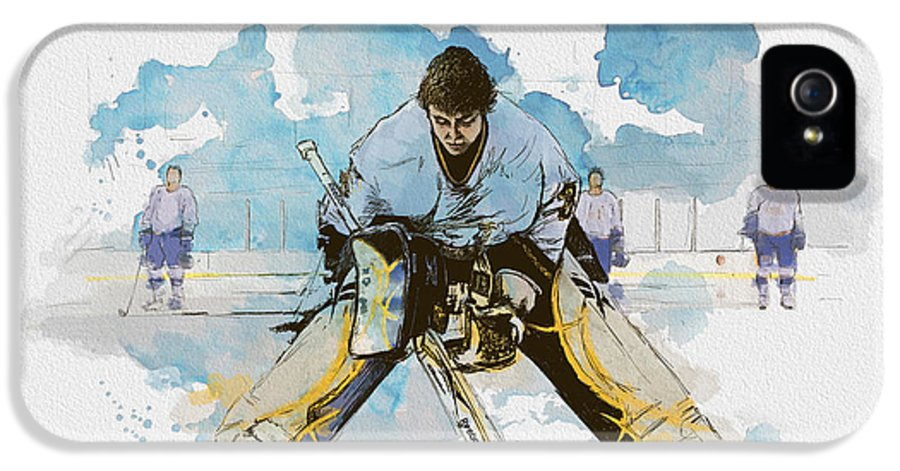 Sports IPhone 5 Case featuring the painting Ice Hockey by Corporate Art Task Force