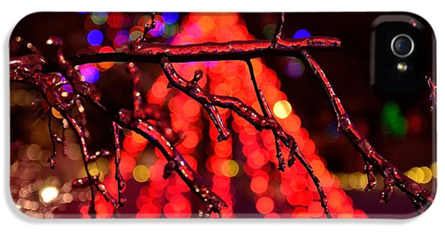 Abstract IPhone 5 Case featuring the photograph Ice Tree 2 by Jeffrey J Nagy