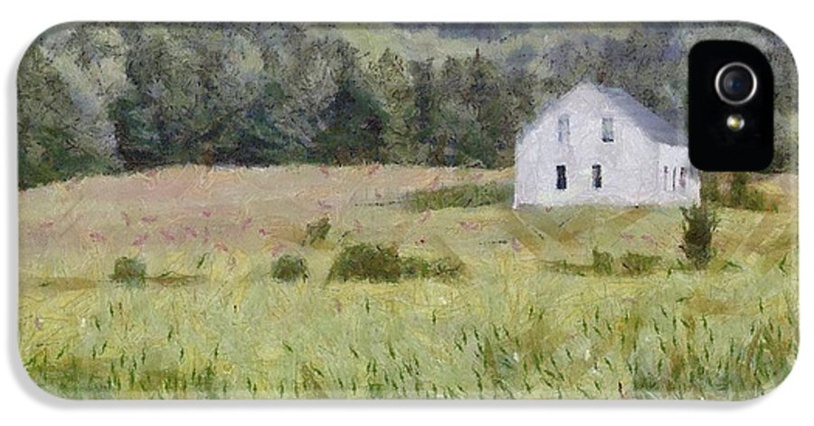 Alone IPhone 5 Case featuring the painting Idyllic Isolation by Jeffrey Kolker
