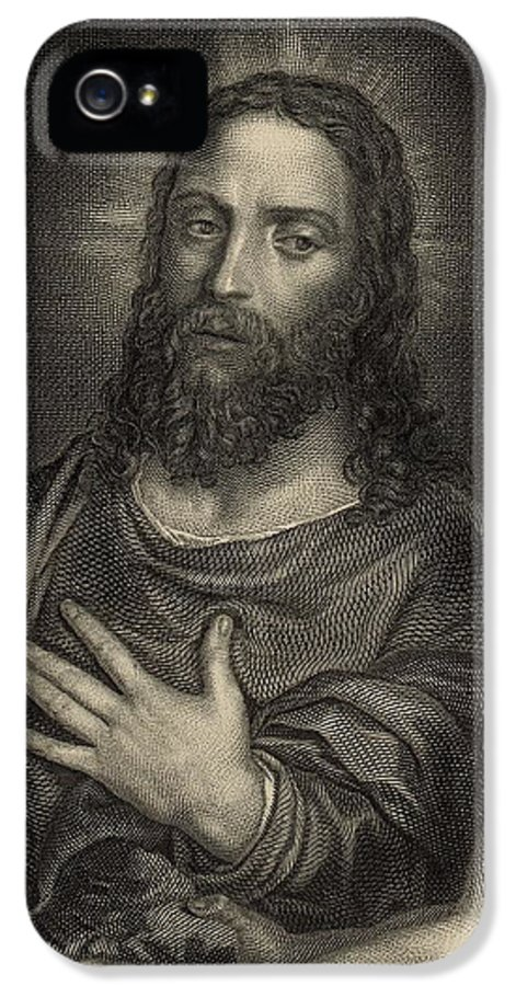 Kitto IPhone 5 Case featuring the painting If Thou Be The Son Of God 1886 Engraving by Antique Engravings