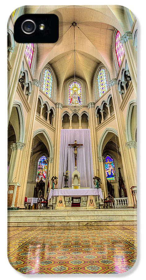 Altar IPhone 5 Case featuring the photograph Iglesia De San Isidro De Coronado In Costa Rica Vertical by Andres Leon