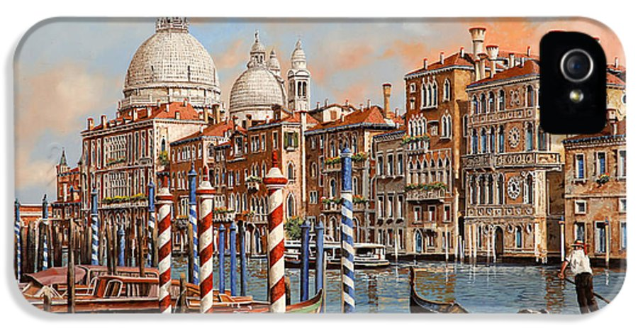 Venice IPhone 5 Case featuring the painting Il Canal Grande by Guido Borelli