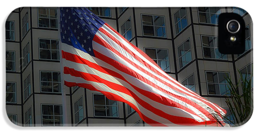 American Flag IPhone 5 Case featuring the photograph I'll Love You Long After Im Gone by Rene Triay Photography