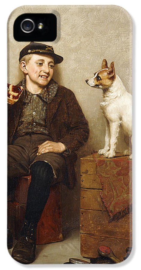 19th Century IPhone 5 Case featuring the painting Ill Share With You by John George Brown