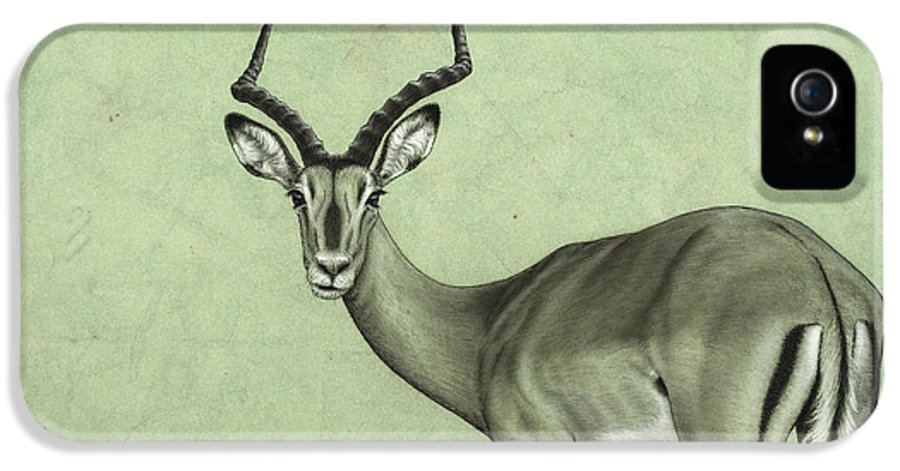 Impala IPhone 5 Case featuring the painting Impala by James W Johnson