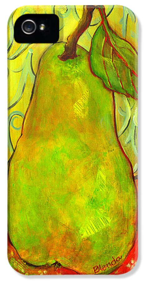 Food IPhone 5 Case featuring the painting Impressionist Style Pear by Blenda Studio