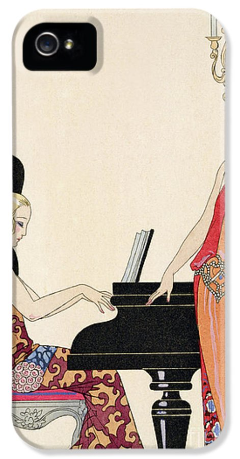 Piano IPhone 5 Case featuring the painting Incantation by Georges Barbier