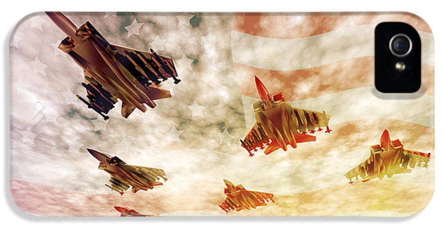 Air Force IPhone 5 Case featuring the digital art Independence Day by Carol and Mike Werner