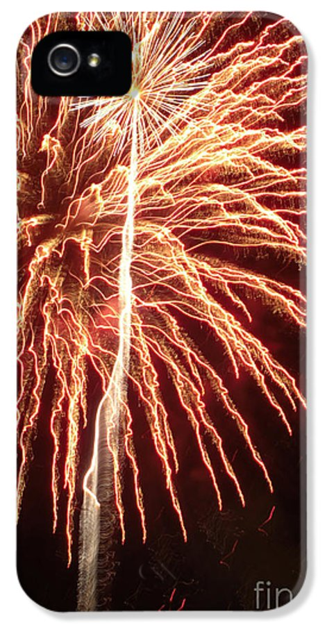 Illinois IPhone 5 Case featuring the photograph Independence Day Sparklers 2 by Deborah Smolinske