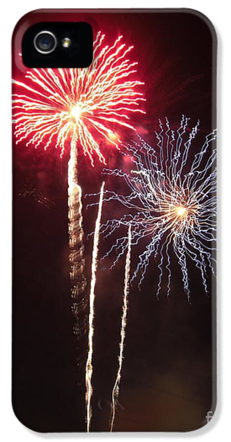 Illinois IPhone 5 Case featuring the photograph Independence Day Sparklers by Deborah Smolinske